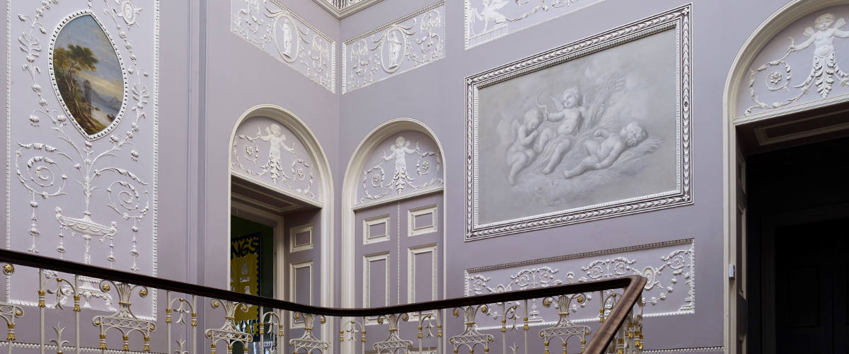 Woodhall Estate main stairwell showing historic elements