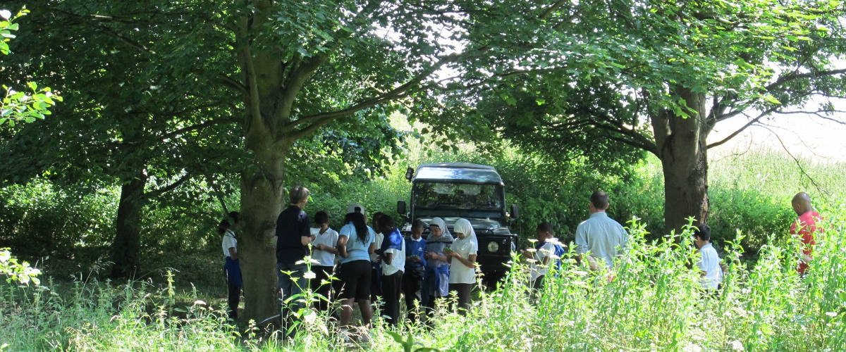 Community group in countryside in Hertfordshire
